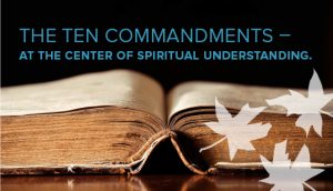 The ten commandments at The Ecumenical Center